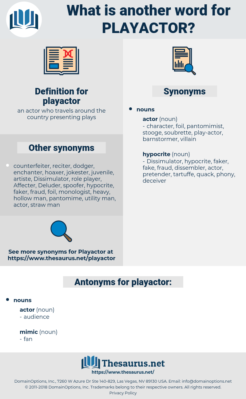 playactor, synonym playactor, another word for playactor, words like playactor, thesaurus playactor