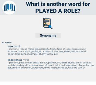 played a role, synonym played a role, another word for played a role, words like played a role, thesaurus played a role