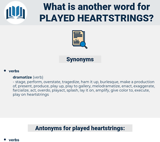 played heartstrings, synonym played heartstrings, another word for played heartstrings, words like played heartstrings, thesaurus played heartstrings