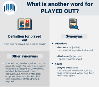 played out, synonym played out, another word for played out, words like played out, thesaurus played out