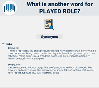 played role, synonym played role, another word for played role, words like played role, thesaurus played role