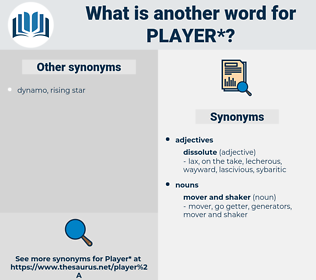 player, synonym player, another word for player, words like player, thesaurus player