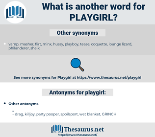 playgirl, synonym playgirl, another word for playgirl, words like playgirl, thesaurus playgirl