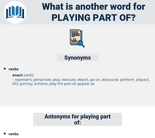 playing part of, synonym playing part of, another word for playing part of, words like playing part of, thesaurus playing part of