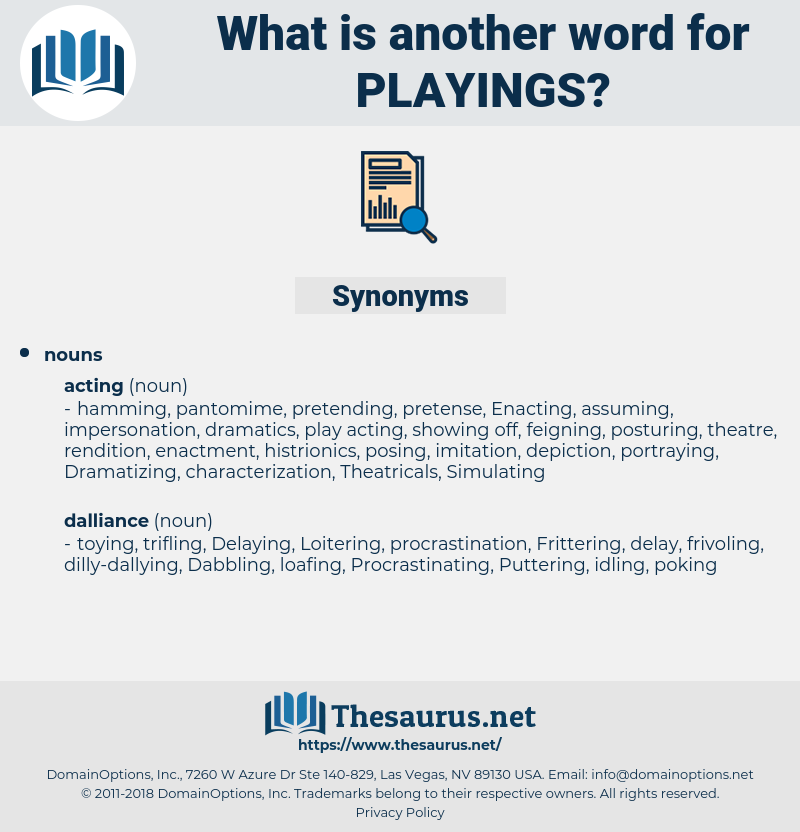playings, synonym playings, another word for playings, words like playings, thesaurus playings