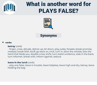 plays false, synonym plays false, another word for plays false, words like plays false, thesaurus plays false