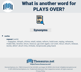 plays over, synonym plays over, another word for plays over, words like plays over, thesaurus plays over