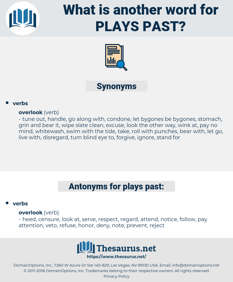 plays past, synonym plays past, another word for plays past, words like plays past, thesaurus plays past