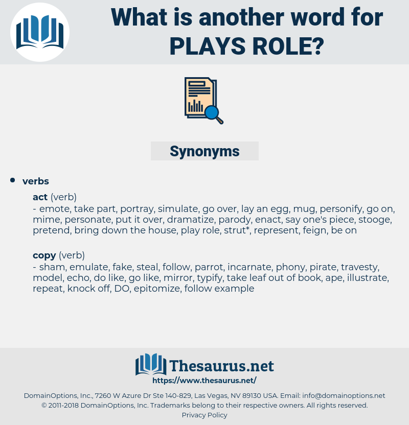 plays role, synonym plays role, another word for plays role, words like plays role, thesaurus plays role