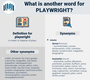 playwright, synonym playwright, another word for playwright, words like playwright, thesaurus playwright