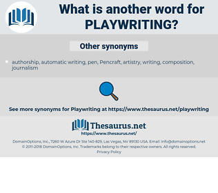 playwriting, synonym playwriting, another word for playwriting, words like playwriting, thesaurus playwriting