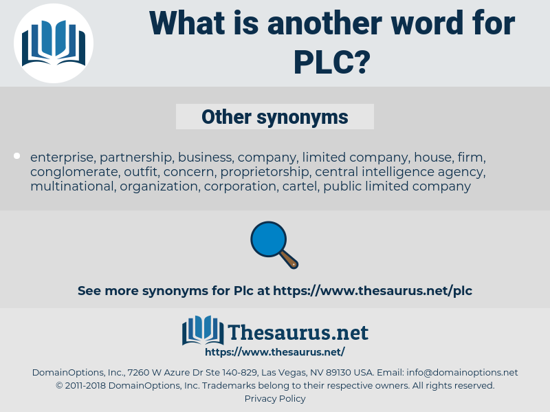 PLC, synonym PLC, another word for PLC, words like PLC, thesaurus PLC