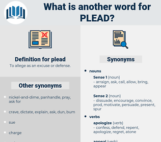 plead, synonym plead, another word for plead, words like plead, thesaurus plead