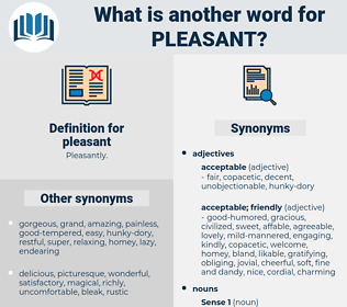 pleasant, synonym pleasant, another word for pleasant, words like pleasant, thesaurus pleasant