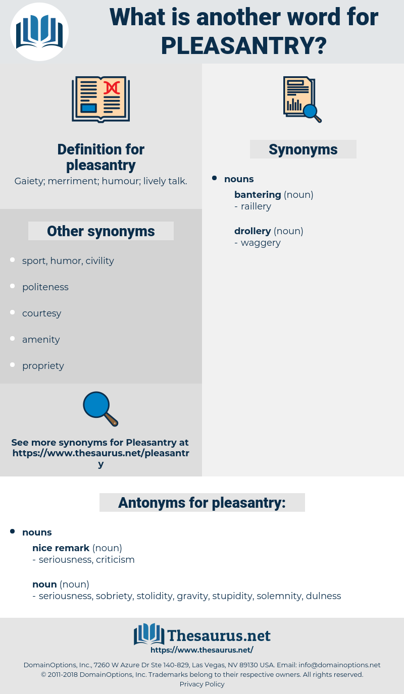 pleasantry, synonym pleasantry, another word for pleasantry, words like pleasantry, thesaurus pleasantry
