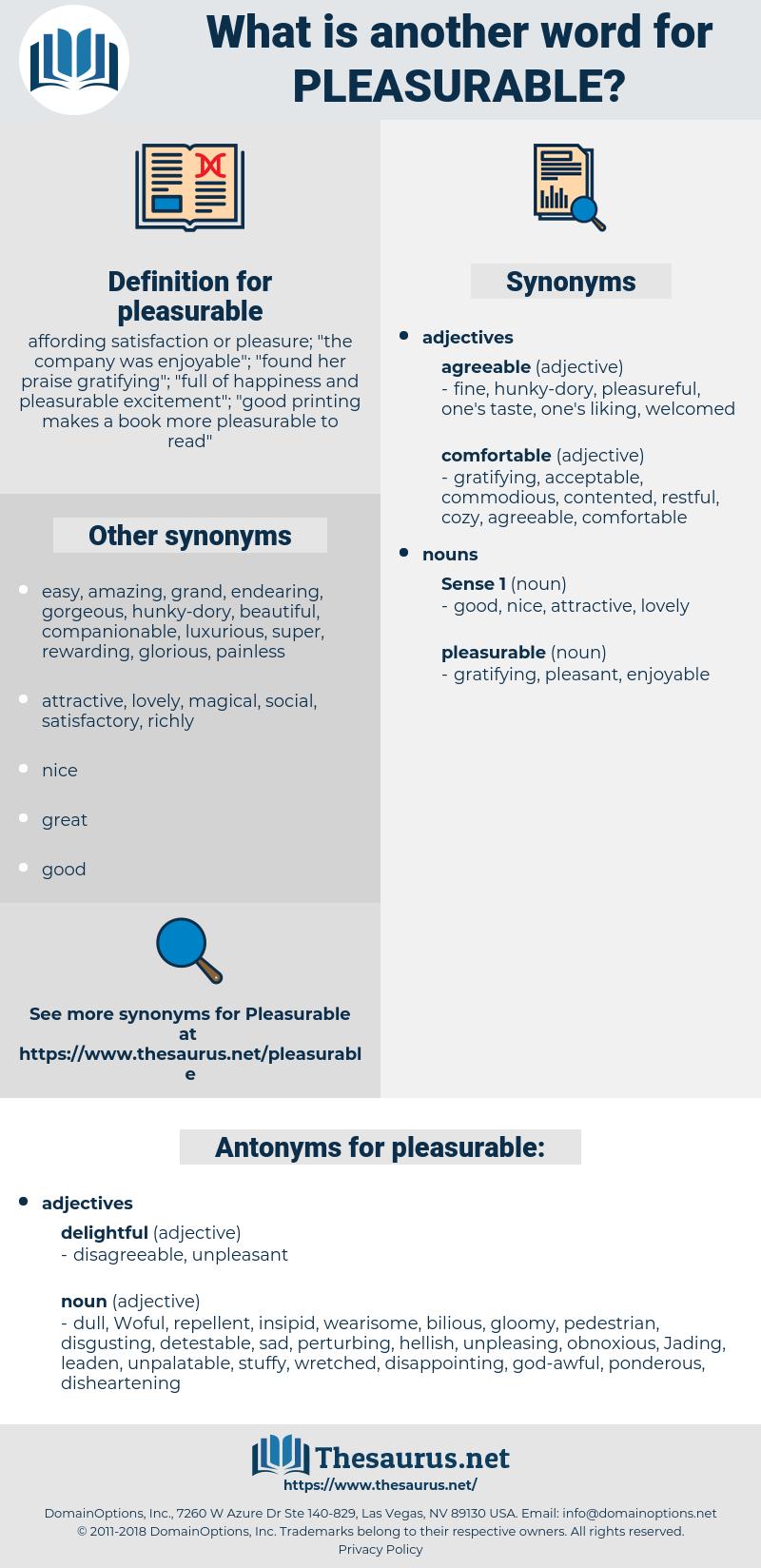 pleasurable, synonym pleasurable, another word for pleasurable, words like pleasurable, thesaurus pleasurable