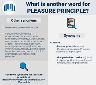 pleasure principle, synonym pleasure principle, another word for pleasure principle, words like pleasure principle, thesaurus pleasure principle