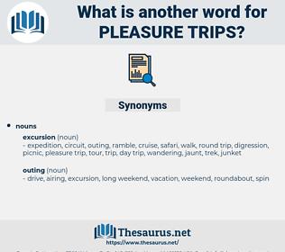 pleasure trips, synonym pleasure trips, another word for pleasure trips, words like pleasure trips, thesaurus pleasure trips