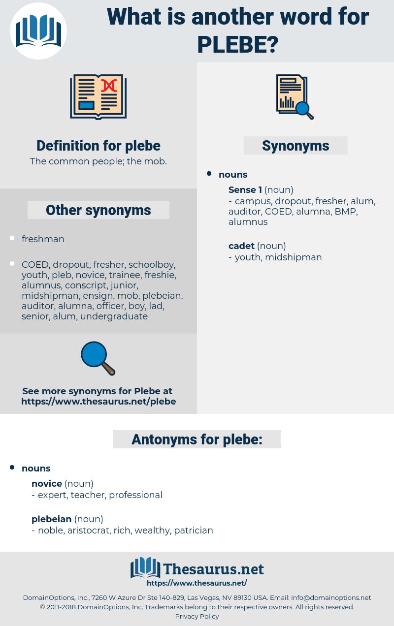 plebe, synonym plebe, another word for plebe, words like plebe, thesaurus plebe