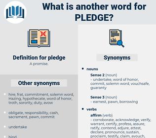 pledge, synonym pledge, another word for pledge, words like pledge, thesaurus pledge