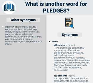 pledges, synonym pledges, another word for pledges, words like pledges, thesaurus pledges