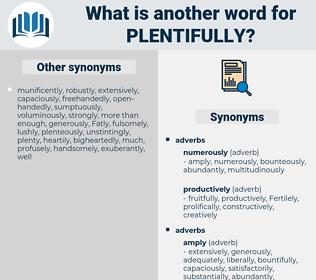 plentifully, synonym plentifully, another word for plentifully, words like plentifully, thesaurus plentifully