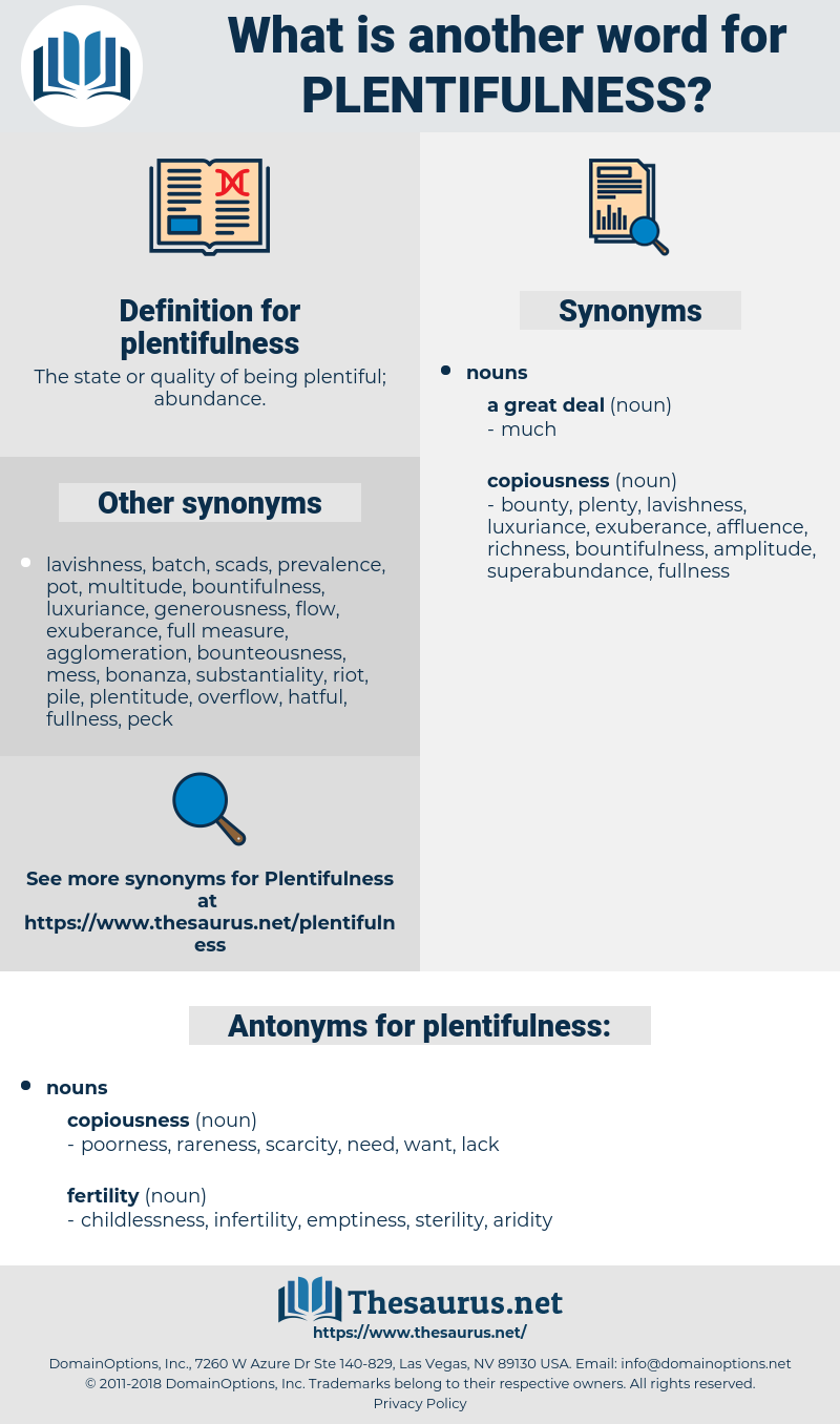 plentifulness, synonym plentifulness, another word for plentifulness, words like plentifulness, thesaurus plentifulness