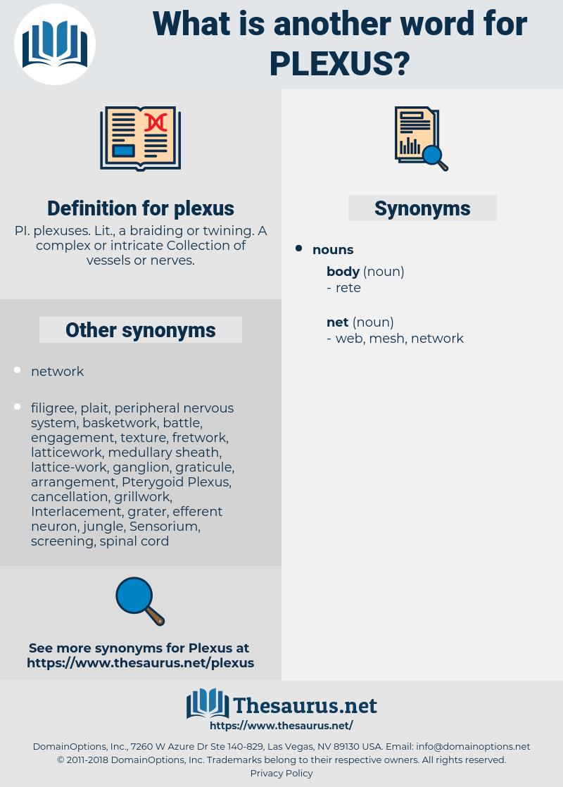 plexus, synonym plexus, another word for plexus, words like plexus, thesaurus plexus