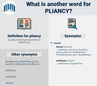 pliancy, synonym pliancy, another word for pliancy, words like pliancy, thesaurus pliancy