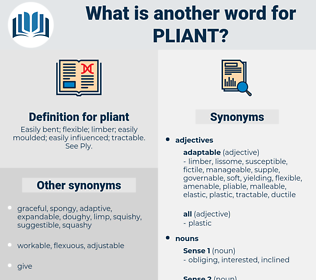 pliant, synonym pliant, another word for pliant, words like pliant, thesaurus pliant