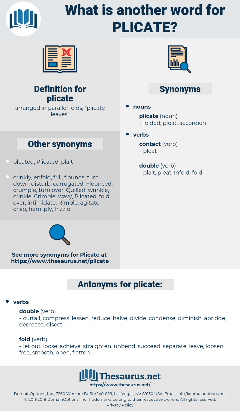 plicate, synonym plicate, another word for plicate, words like plicate, thesaurus plicate