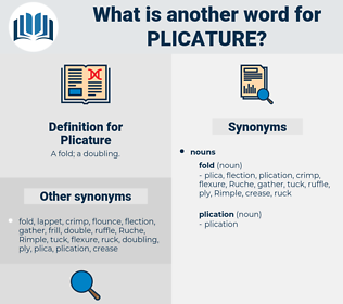 Plicature, synonym Plicature, another word for Plicature, words like Plicature, thesaurus Plicature