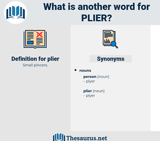 plier, synonym plier, another word for plier, words like plier, thesaurus plier