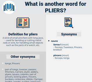 pliers, synonym pliers, another word for pliers, words like pliers, thesaurus pliers