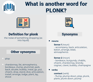 plonk, synonym plonk, another word for plonk, words like plonk, thesaurus plonk