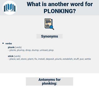 plonking, synonym plonking, another word for plonking, words like plonking, thesaurus plonking