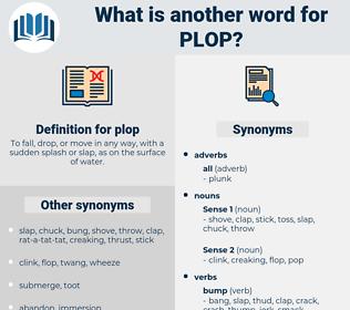 plop, synonym plop, another word for plop, words like plop, thesaurus plop