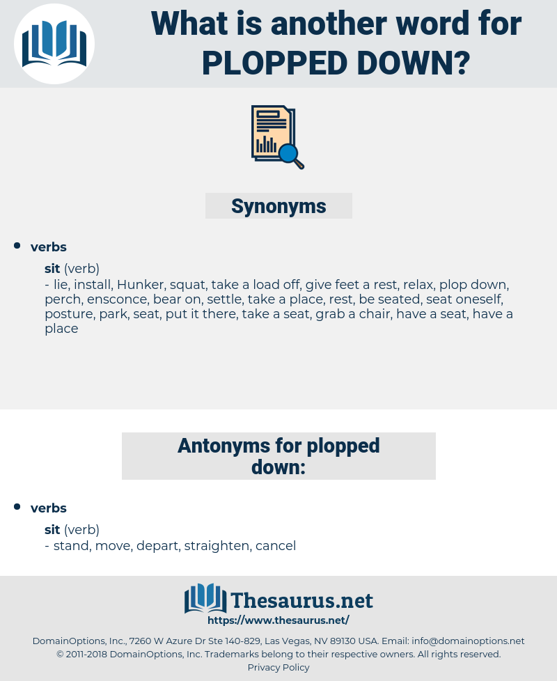 plopped down, synonym plopped down, another word for plopped down, words like plopped down, thesaurus plopped down
