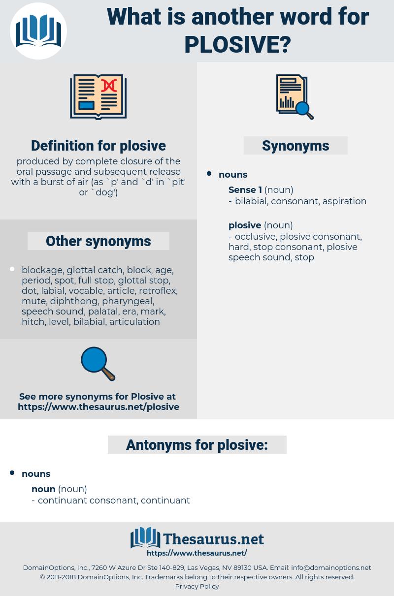 plosive, synonym plosive, another word for plosive, words like plosive, thesaurus plosive