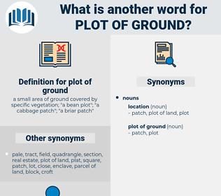 plot of ground, synonym plot of ground, another word for plot of ground, words like plot of ground, thesaurus plot of ground