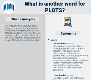 plots, synonym plots, another word for plots, words like plots, thesaurus plots