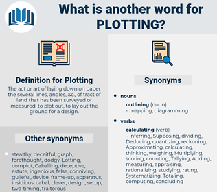 Plotting, synonym Plotting, another word for Plotting, words like Plotting, thesaurus Plotting