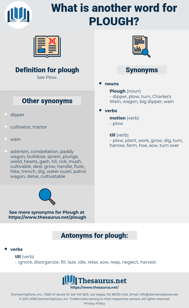 plough, synonym plough, another word for plough, words like plough, thesaurus plough