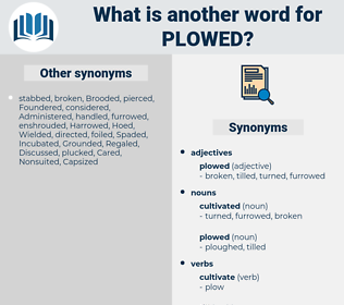 plowed, synonym plowed, another word for plowed, words like plowed, thesaurus plowed