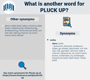 pluck up, synonym pluck up, another word for pluck up, words like pluck up, thesaurus pluck up