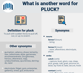 pluck, synonym pluck, another word for pluck, words like pluck, thesaurus pluck