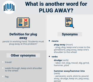 plug away, synonym plug away, another word for plug away, words like plug away, thesaurus plug away