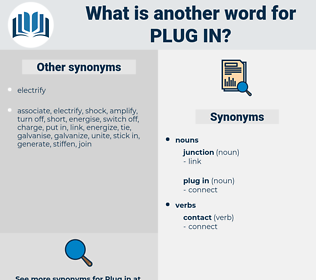 plug in, synonym plug in, another word for plug in, words like plug in, thesaurus plug in