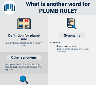plumb rule, synonym plumb rule, another word for plumb rule, words like plumb rule, thesaurus plumb rule