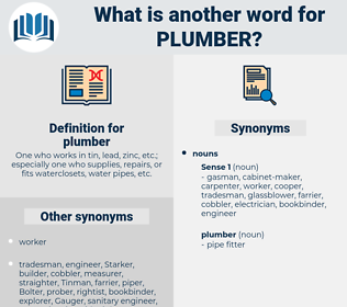 plumber, synonym plumber, another word for plumber, words like plumber, thesaurus plumber